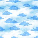 Céu com as nuvens sem emenda Fotografia de Stock