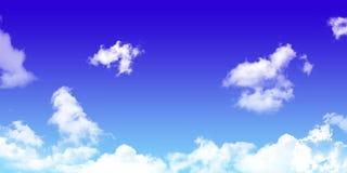 Céu com nuvem Fundo textura natural do azul brilhante Foto de Stock