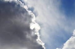 Céu com nuvens fotografia de stock