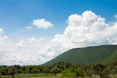 Céu com nuvens brancas Imagem de Stock Royalty Free