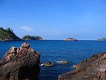 Céu com o mar com céu imagem de stock royalty free