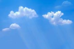Céu com raio e chuvoso nebulosos Foto de Stock Royalty Free