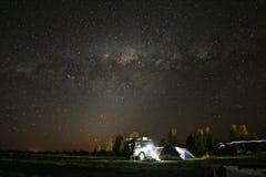 Céu completamente das estrelas fotos de stock