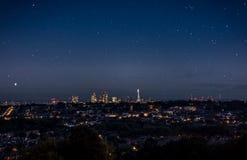 Céu completamente das estrelas da cidade de Londres Fotos de Stock