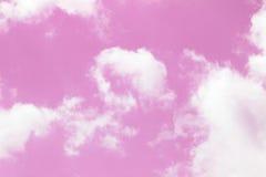 Céu cor-de-rosa Foto de Stock