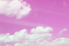 Céu cor-de-rosa Fotografia de Stock