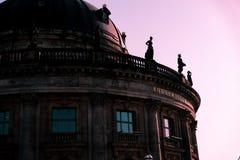 Céu cor-de-rosa em Berlim Fotos de Stock Royalty Free