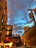 Céu da aleia de Chicago fotos de stock