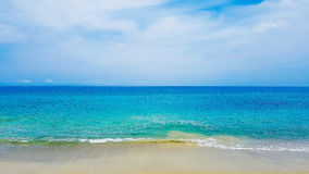 Céu da areia do mar Fotografia de Stock