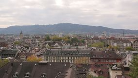 Céu da arquitetura da cidade de Zurique vídeos de arquivo