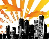 Céu da cidade Ilustração do Vetor