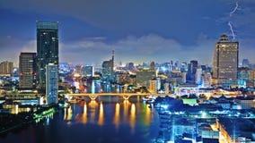 Céu da cidade da noite Foto de Stock