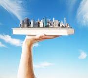 Céu da cidade do livro Fotos de Stock Royalty Free
