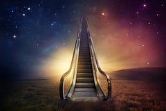 Céu da escada rolante Imagem de Stock Royalty Free