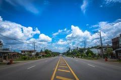 Céu da estrada Fotografia de Stock