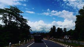 Céu da estrada Fotografia de Stock Royalty Free