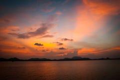 Céu da ilha de Phitak Fotografia de Stock