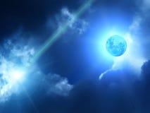 Céu da lua das nuvens ilustração do vetor