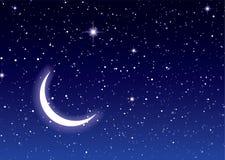 Céu da lua do espaço ilustração royalty free