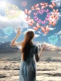 Céu da menina Imagens de Stock Royalty Free