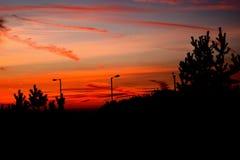 Céu da noite Foto de Stock Royalty Free