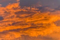 Céu da noite antes do por do sol Imagens de Stock