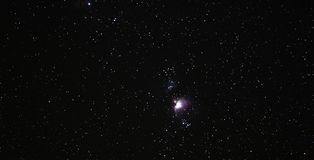 Céu da noite com nebulosa de Orion fotografia de stock royalty free