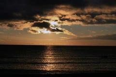 Céu da noite com nuvens Foto de Stock