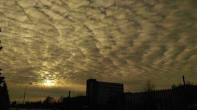 Céu da noite em Lituânia fotos de stock royalty free