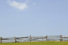 Céu da reunião da cerca Imagens de Stock