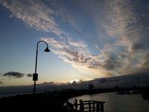 Céu da tarde fotografia de stock