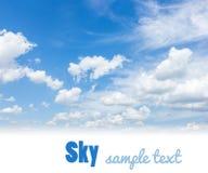 Céu da tempestade com nuvens imagem de stock royalty free