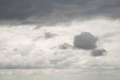 Céu da tempestade e nuvens pesadas Fotografia de Stock