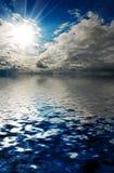 Céu da tempestade em um mar Foto de Stock Royalty Free