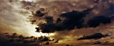 Céu de Autum Foto de Stock