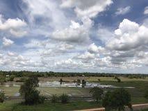Céu de Bule, grande área de montanha circunvizinha com campos de almofada Fotos de Stock
