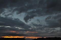 Céu de Colorfull em Abovyan Imagem de Stock