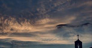 Céu de enrolamento santamente fotos de stock royalty free