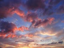 Céu de Evenig Imagens de Stock