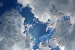 Céu de Nacked ilustração do vetor