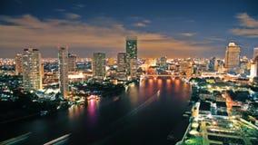 Céu de Nigth sobre a cidade Imagem de Stock Royalty Free