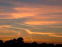 Céu de Nohtern Fotografia de Stock Royalty Free