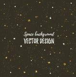 Céu de noites efervescente com estrelas e espaço escuro Fundo à moda tirado mão do vetor ilustração do vetor