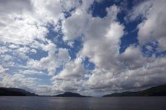 Céu de Noruega fotografia de stock