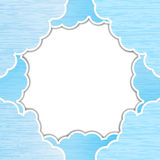 Céu de papel rasgado azul Ilustração do Vetor
