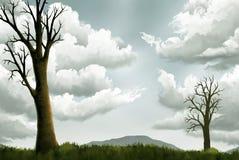 Céu de prata ilustração stock