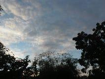 Céu do alvorecer fotografia de stock