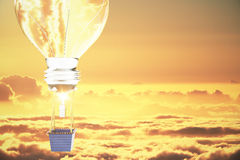Céu do amarelo do conceito da ideia Fotos de Stock Royalty Free