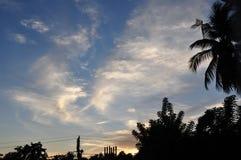 Céu do anoitecer no verão Fotografia de Stock