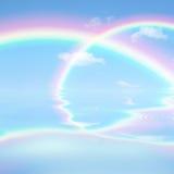 Céu do arco-íris foto de stock
